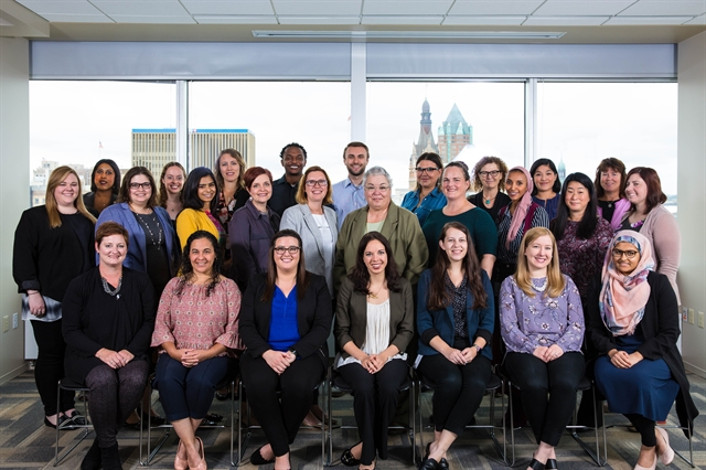 MDS Staff gather for a photo at the International Secretariat in Milwaukee, Wisconsin.