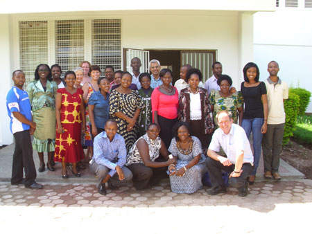 Course participants with Prof. Richard Walker, at right, kneeling
