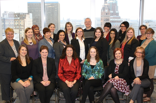 MDS Staff gather for a photo at the International Secretariat in Milwaukee, WI USA.