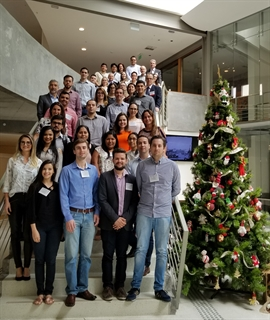 Participants at the 8th School for Young Neurologists held in Porto Alegre, Brazil, in December 2017 gather for a photo.