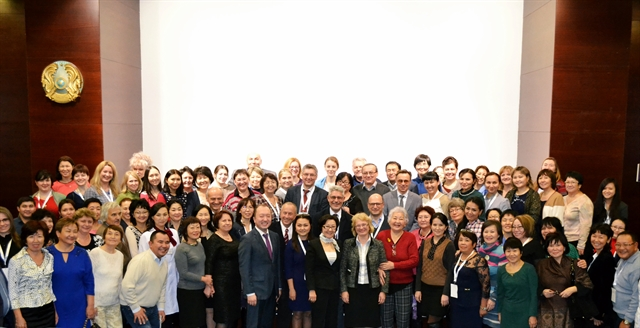 Course participants gather for a photo in Astana, Kazakhstan in November 2015.