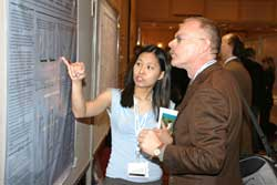 Delegates present cutting-edge research during the a Poster Session.